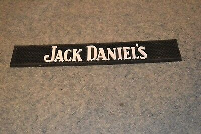 New Jack Daniels Black and White Bar Rail Mat 21""