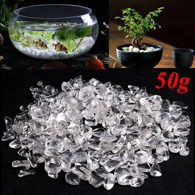 50g/bag Clear White Agate Quartz Raw Ore Crushed Gravel Crystal Stone Minerals