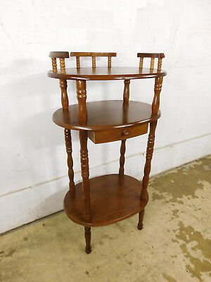 Vintage Elegant Cellphone Washstand Valet Table Stand! French Gallery & Drawer