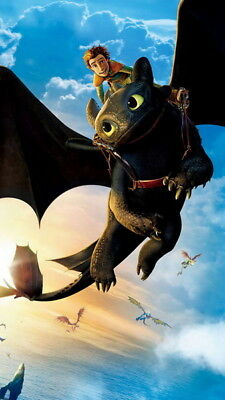 "007 How to Train Your Dragon 3 - The Hidden World Hiccup Movie 24""x42"" Poster"