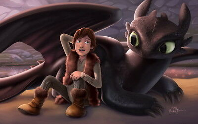 """003 How to Train Your Dragon 3 - The Hidden World Hiccup Movie 38""""x24"""" Poster"""
