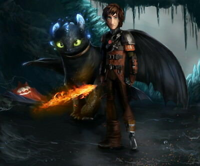 """013 How to Train Your Dragon 3 - The Hidden World Hiccup Movie 28""""x24"""" Poster"""