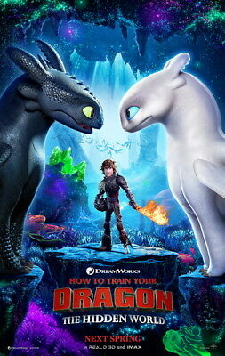 """017 How to Train Your Dragon 3 - The Hidden World Hiccup Movie 24""""x37"""" Poster"""
