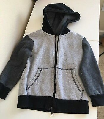 H&M Boys Size 4-6y Black and Gray Zippered Hoodie