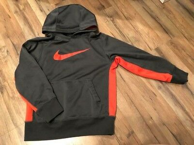 Orange and Gray Nike Hoodie Size Small