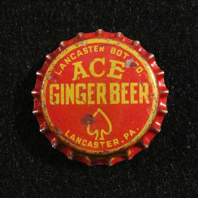 Ace Ginger Beer Lancaster Bottling Pennsylvania Unused Cork Soda Bottle Cap C/l+