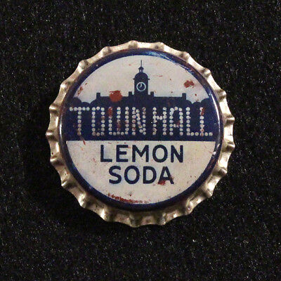Town Hall Lemon Unused Cork Soda Bottle Cap New Yorker Atlanta Georgia Crown C/l