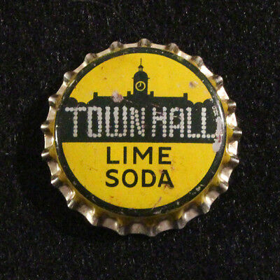 Town Hall Lime Unused Cork Soda Bottle Cap New Yorker Atlanta, Georgia Crown C/l