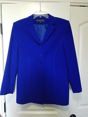 Kasper & Company Wool suit coat and skirt size 14, tags on skirt, royal blue col