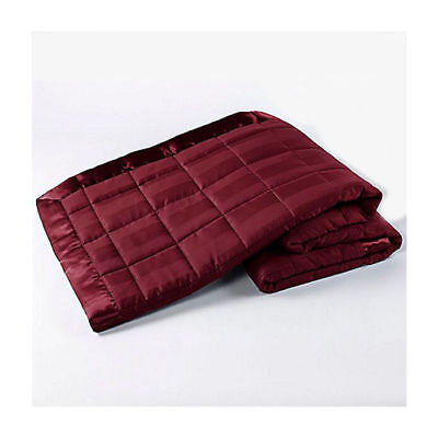 Ron Chereskin Woven Quilted & Striped Blanket In Cabernet - Full/Queen