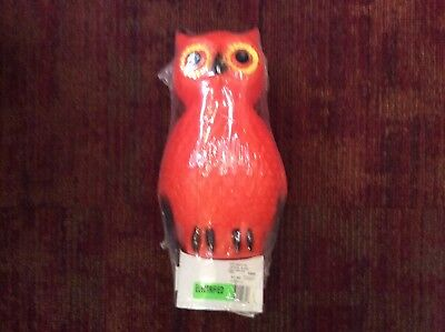"Owl blow mold Union New 14"" Halloween lantern"