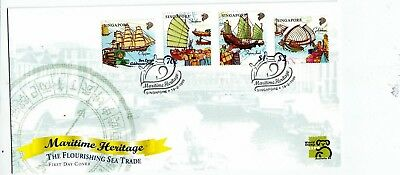 "Singapore, 1999, ""maritime Heritage"" Stamp Set On Gpo Fdc Fresh Good Condition"
