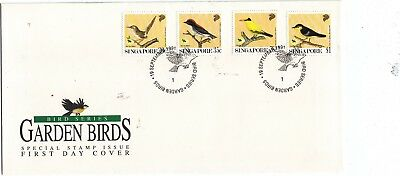 "Singapore, 1991, ""garden Birds"" Stamp Set On Gpo Fdc Fresh Good Condition"