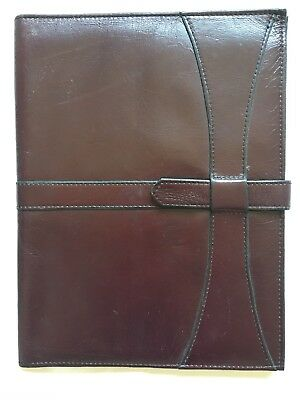 Brown Journal Business Diary Address Book Leather Notebook Holds 7x 11 Oad