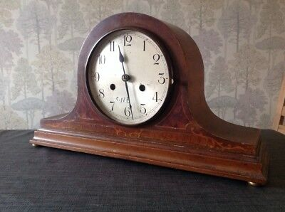 Antique Keinzle ? Clock Movement Nelson Case Hands Pendulum For Repair 17x10x5""