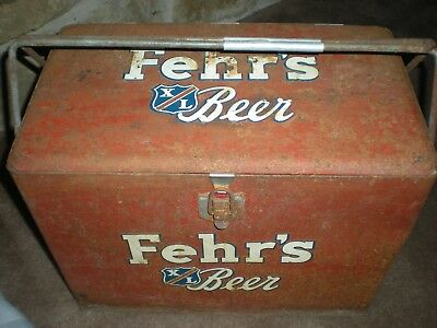 Vintage Fehrs beer / picnic ice chest / cooler