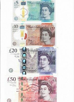 Uk- Great Britain- British Pounds - Real Currency For Your Travel 5, 10, 20 & 50
