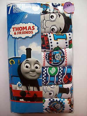 Thomas the Tank Underwear Underpants Boys 7 Pair Brief Pk 2T/3Toddler NIP