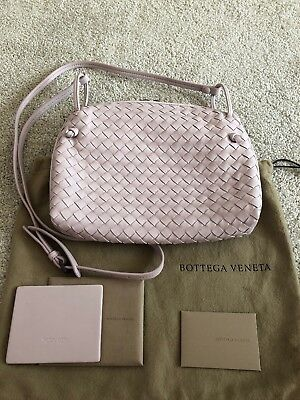 e85ddfdd2e NEW BOTTEGA VENETA Light Lavender Intrecciato LEATHER CROSSBODY NODINI BAG