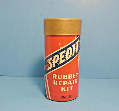 Vintage SPEDIT Rubber Repair Kit tube patch container tire no tin
