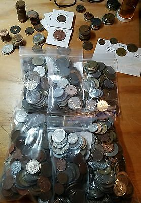 Mixed Assorted Foreign World Coins Lot Collectible **GREAT SELECTION**