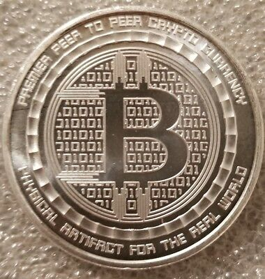 Bitcoin Guardian 1 oz .999 fine Solid silver commemorative Digital AI w/ COA new