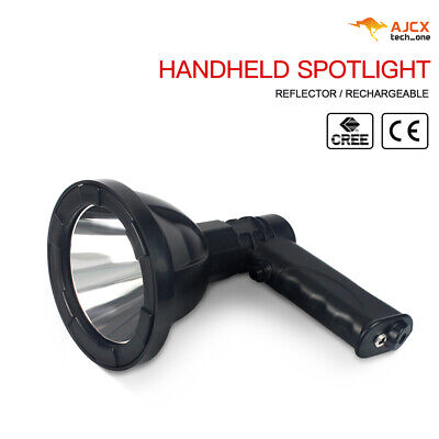2X CREE Handheld Spot Light Rechargeable LED Spotlight Hunting Shooting 12V