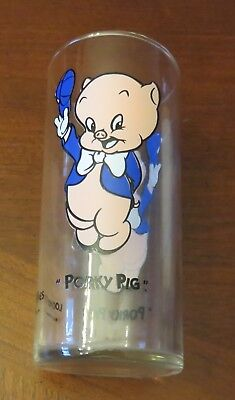 "VINTAGE 1993 Warner Bros. Inc. Store Looney Tunes Glass- ""Porky Pig"""