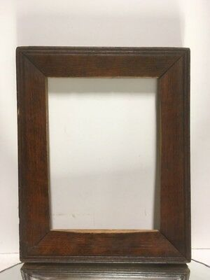 """Antique Arts and Crafts Mission OAK Picture Frame Fits 5"""" x 7"""""""