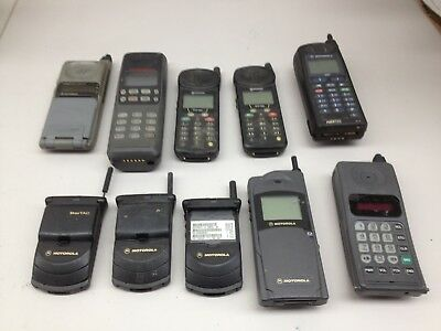 Lot of 10 Vintage Assorted Cell Phones AS IS | PH533
