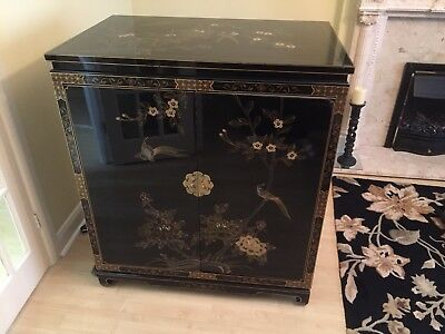 Chinese Lacquered Television Cabinet