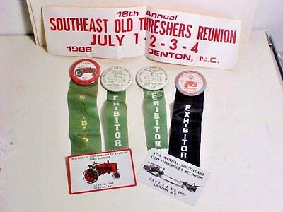 Southeast Threshers Reunion Denton NC Exhibitor Buttons, Plaques & More