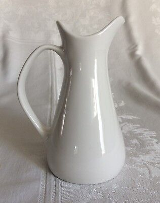 Iroquois Impromptu Bridal White Cream Pitcher Ben Seibel True China Made In USA