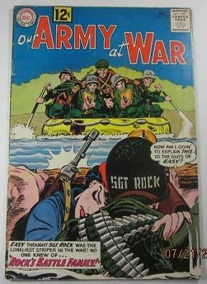 Our Army At War  #115 Dc Comics Feb 1962 Vg/f 5.0 First Sgt Rock Battle Family
