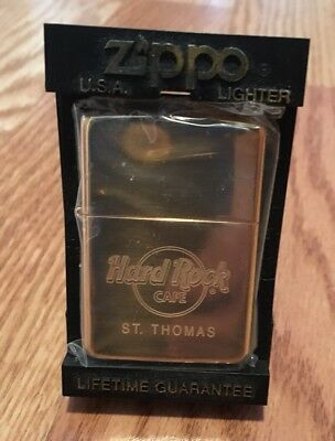 NIP Collectible Hard Rock Cafe St. Thomas Zippo Lighter—Ships Free