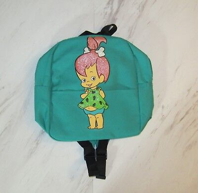 The Flintstones Backpack featuring Pebbles Glitter Green Small Bag