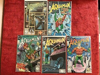 Aquaman 2nd LS 1 2 3 4 5 DC Run of 5 Complete 1989 Giffen Swan Fleming