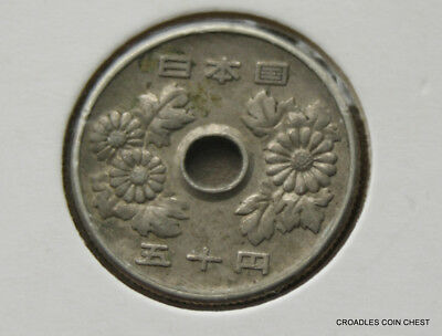 Japan 50 Yen Circulated Y#81 Coin  Nice Coin Japan #bl78