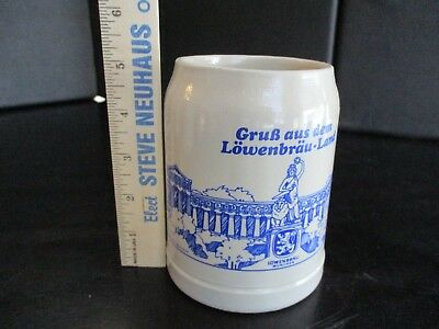 Vtg West Germany Lowenbrau 0.5L Beer Mug Stein