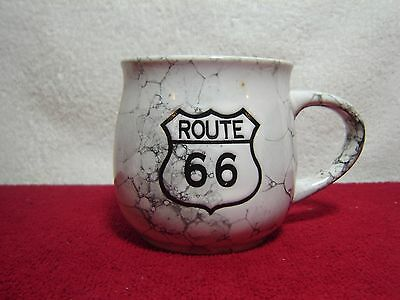 Vintage Japan Historical Route 66 Coffee Cup Mug Embedded Graving Rare HTF