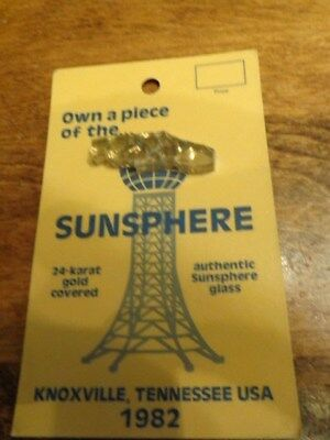 1982 World'S Fair Piece Of The Sunsphere Glass New Old Stock