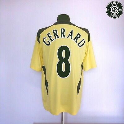 GERRARD #8 Liverpool Reebok Away Football Shirt 2004/05 (L) Champions League