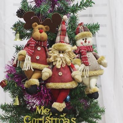 New Year Merry Christmas Tree Decorations Santa Snowman Pendant Home Ornaments