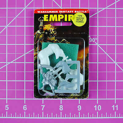 Warhammer Empire Mounted Amethyst Wizard NIB Metal - OOP Games Workshop Citadel