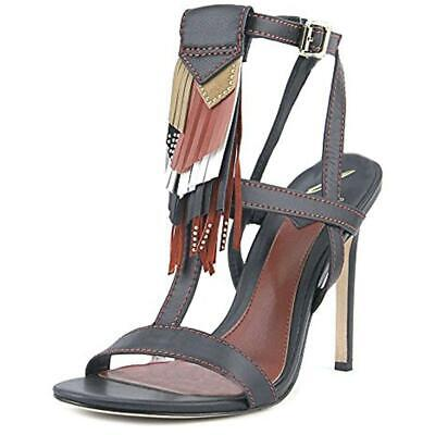 a62e9a6a358 B Brian Atwood Women s Fabia Leather Fringe Stiletto Dress Sandals Shoes