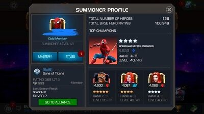 MCOC ACCOUNT UNCOLLECTED, 686k pi rating , 7032 prestige