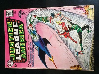 JUSTICE LEAGUE of AMERICA #17 (DC) ADAM STRANGE. TORNADO TYRANT. Movies KEY 1962