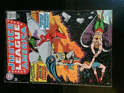 JUSTICE LEAGUE of AMERICA #31 (DC) HAWKMAN joins JLA. Sekowsky/Anderson-c 1964!