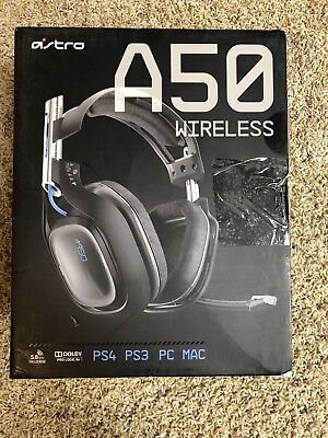 Astro A50 Wireless Edition Black/Blue Gaming Headsets for PS4 PC Mac