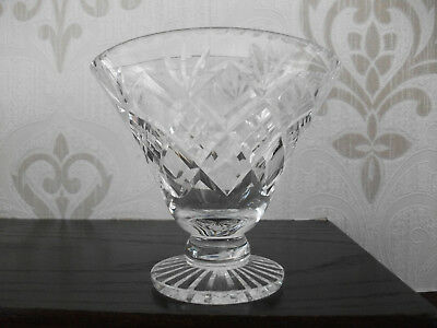 Cut Crystal Fan Shape Vase